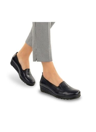 Muya Flex Anatomik Hakiki Deri Kadın Ayakkabı Siyah